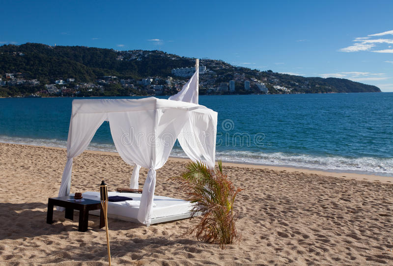 Download Beach Daybed stock photo. Image of beach, lounge, hotel - 13137140
