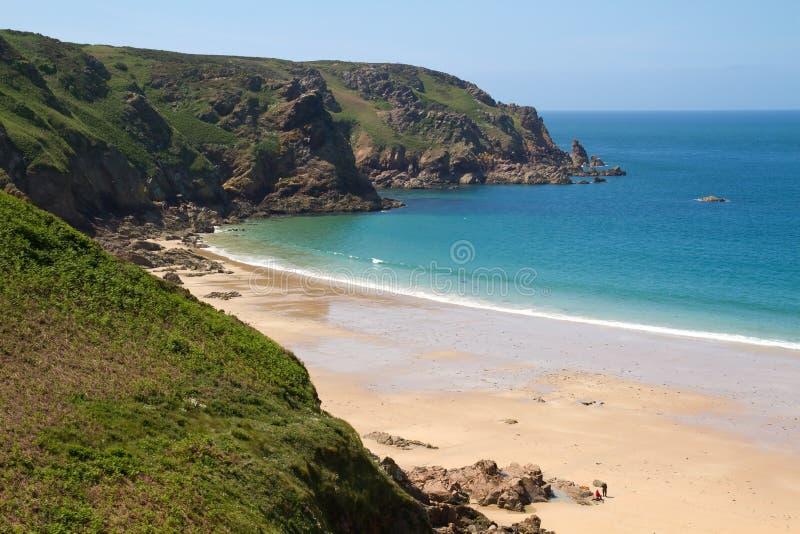beach de greve Τζέρσεϋ lecq UK στοκ φωτογραφία με δικαίωμα ελεύθερης χρήσης