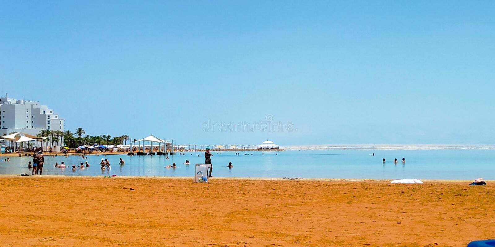 Beach in Dead Sea, Israel. stock images