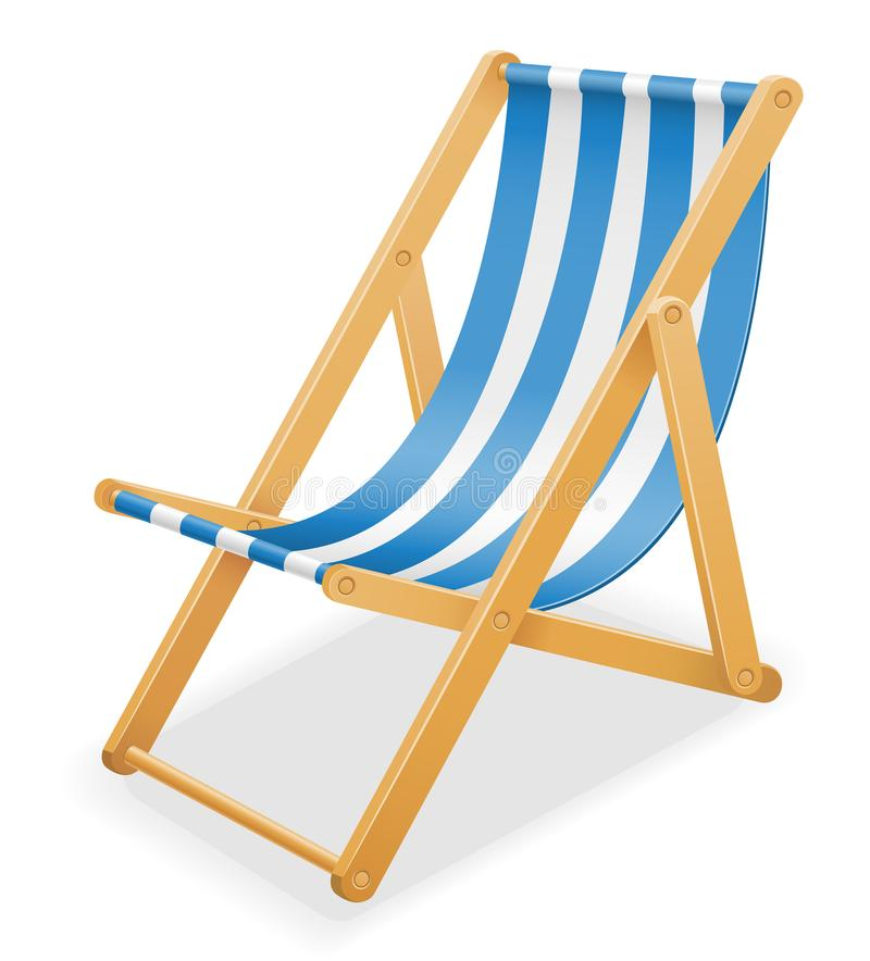 Download Beach Deck Chair Made Of Wood And Fabric Stock Vector Illustrati  Stock Vector   Illustration
