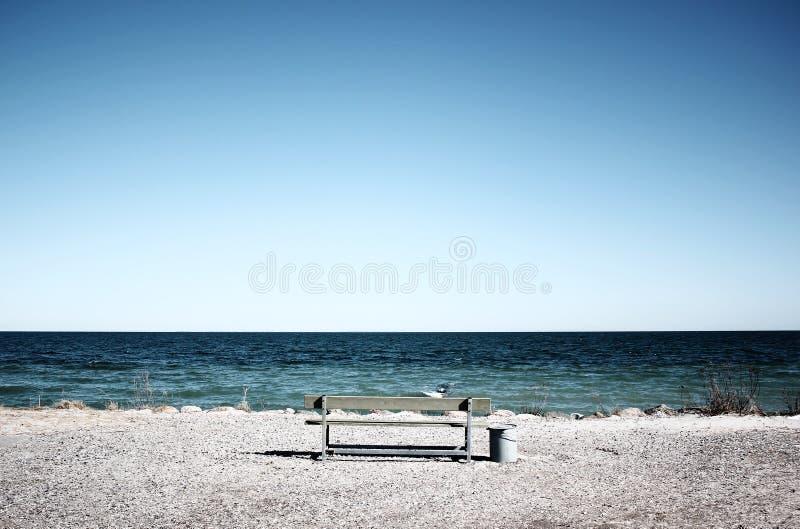 Beach in Denmark stock photography