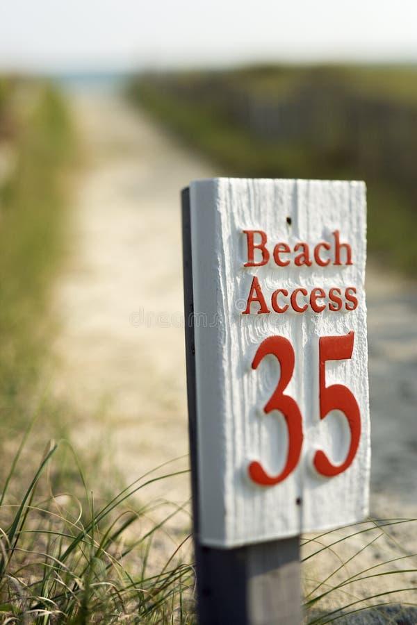beach dostępu zdjęcia stock