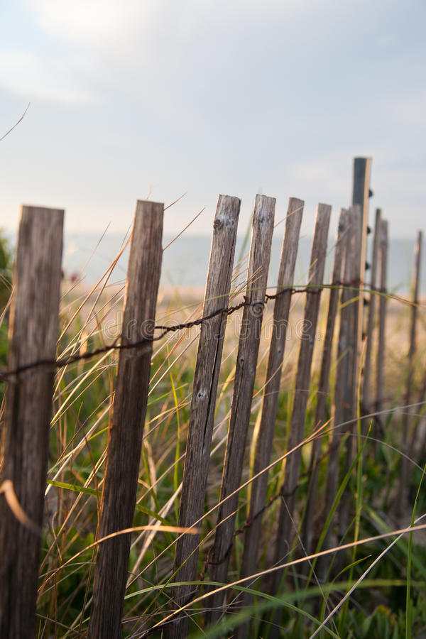 Beach Dunes Fence Royalty Free Stock Photography