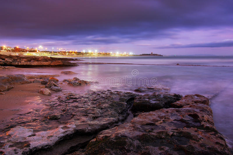 Beach At Dusk Royalty Free Stock Images