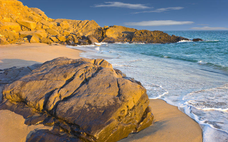 Beach at Dusk, Oxnard, CA. Colorful Evening at Ocean Beach in Oxnard, Ventura County, California royalty free stock photos