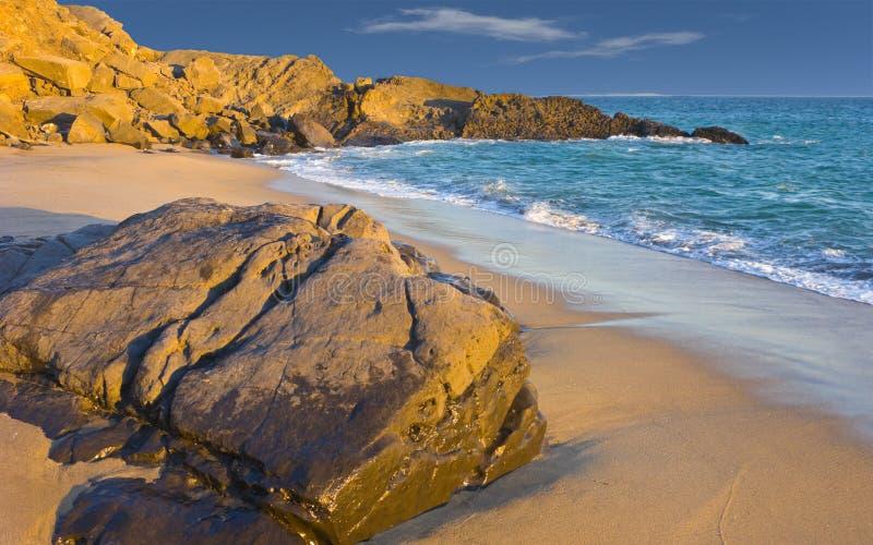 Beach at Dusk, Oxnard, CA. Colorful Evening at Ocean Beach in Oxnard, Ventura County, California stock photography