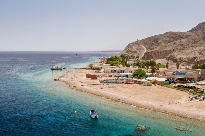 Beach of Eilat city, Red Sea, Israel stock photos