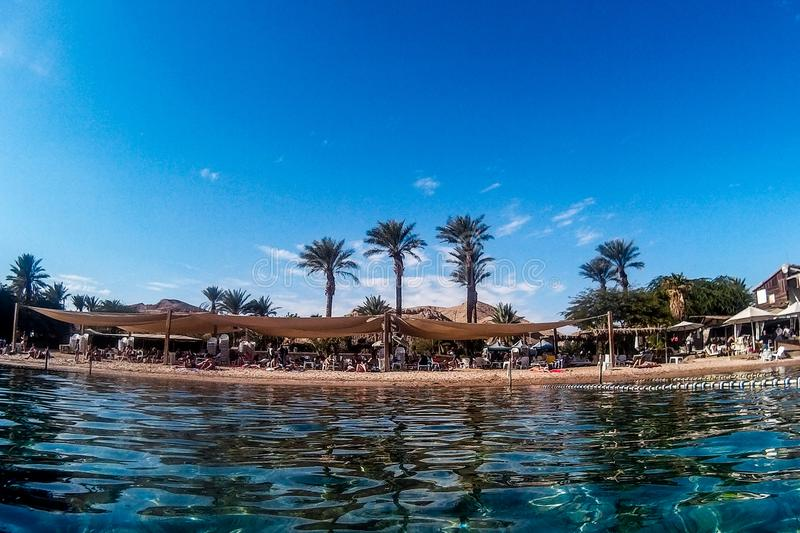 Beach in Eilat royalty free stock photography