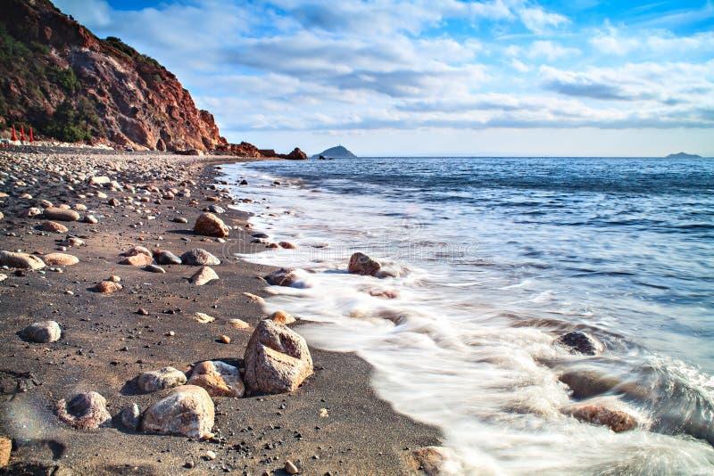 The beach on Elba island royalty free stock photo