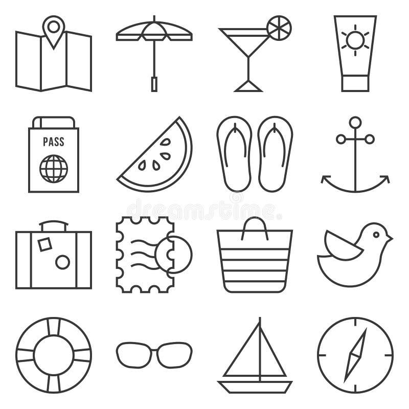 Beach element stock illustration