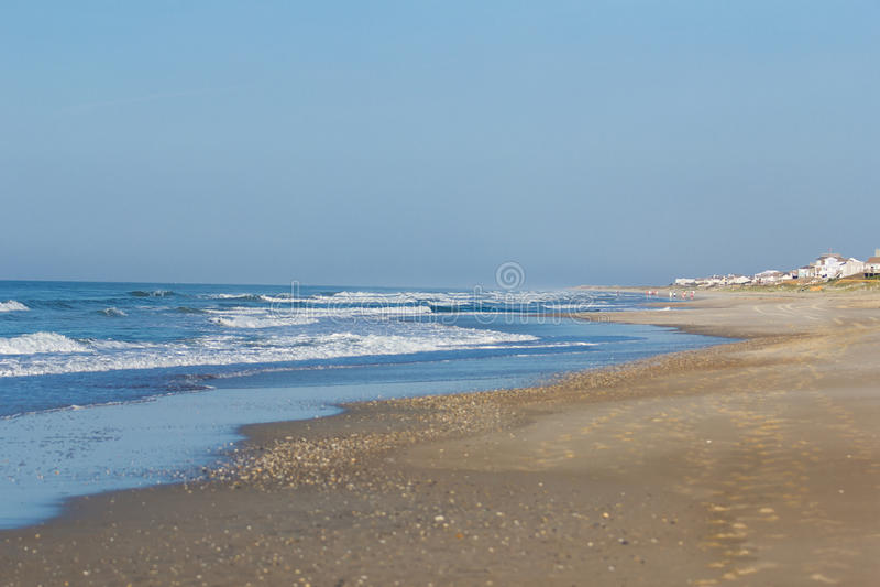 Beach at Emerald Isle stock photo