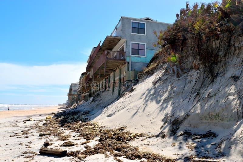 Beach erosion from Hurricane Irma, Florida stock photo