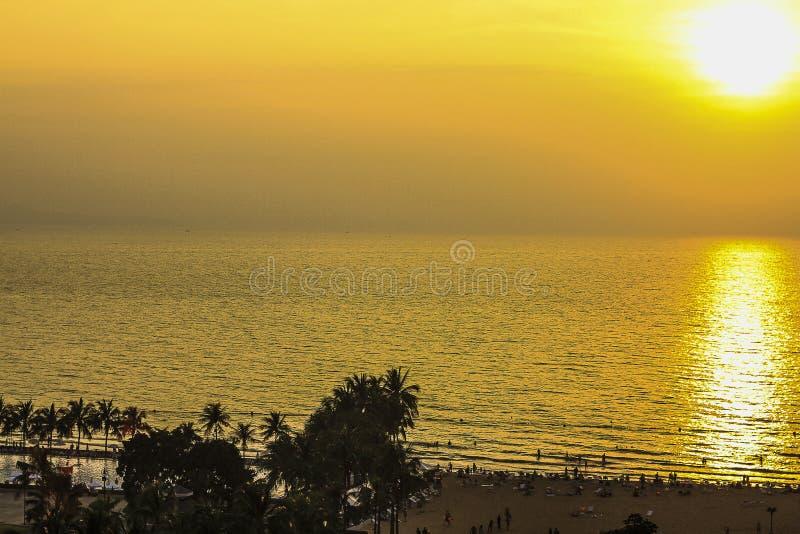 The beach, Evening beach. Evening beach and golden light stock image