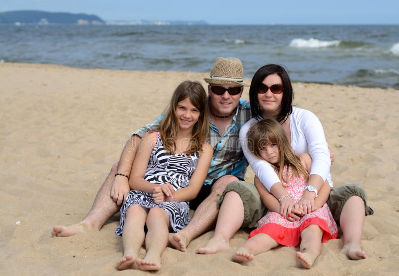 Download Beach family portrait stock photo. Image of complete - 21736904