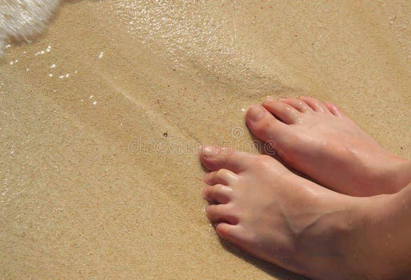 Beach feet stock photos
