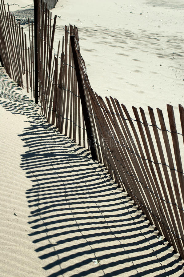 Beach fence abstract royalty free stock photography