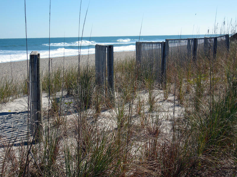 Beach Fences. Cocoa Beach Florida stock photography