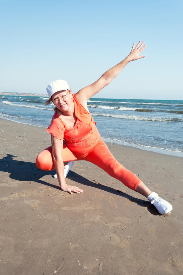 Download Beach fitness. stock photo. Image of fitness, exercise - 27067958