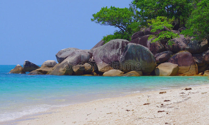 Beach Fitzroy Island. Nudie beach royalty free stock photography