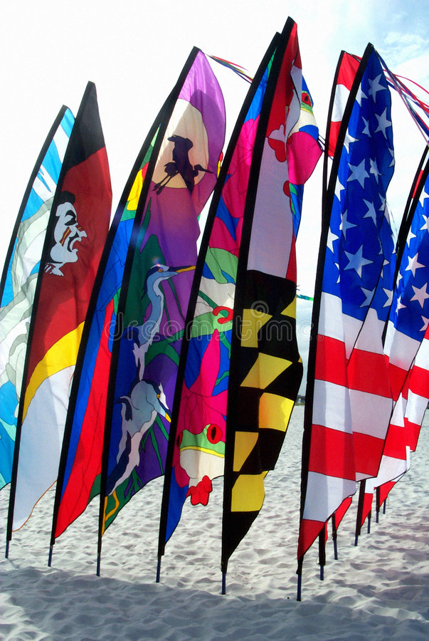 Download Beach Flags stock photo. Image of tropical, banners, summer - 2053502