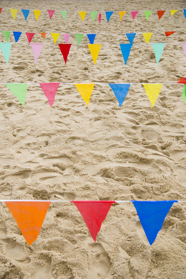 Download Beach flags stock image. Image of life, colours, sports - 2978413