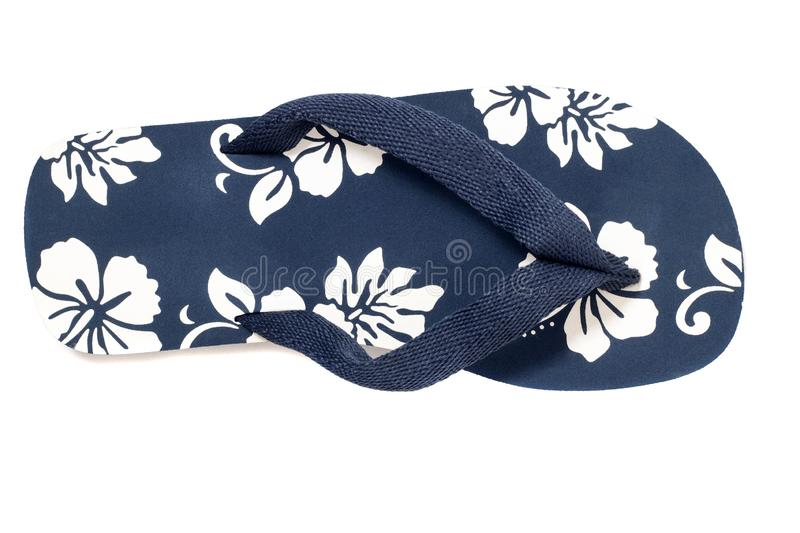 Beach flip flops. Close view beach flip flops or summer sandals isolated on a white background royalty free stock images