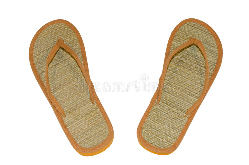 Beach flip flops on a white background royalty free stock images