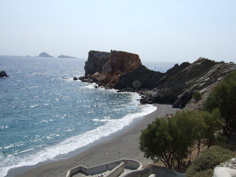 Beach at Folegandros island. A beautifull beach at folegandros island during summer royalty free stock photography