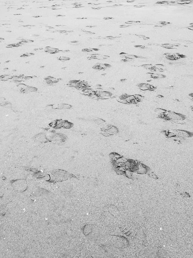 Beach Foot Prints stock photo