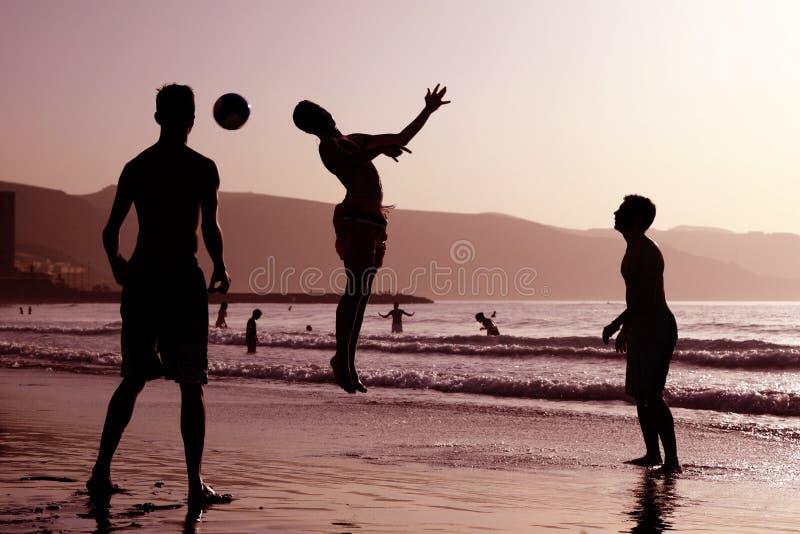 Beach Football royalty free stock photography
