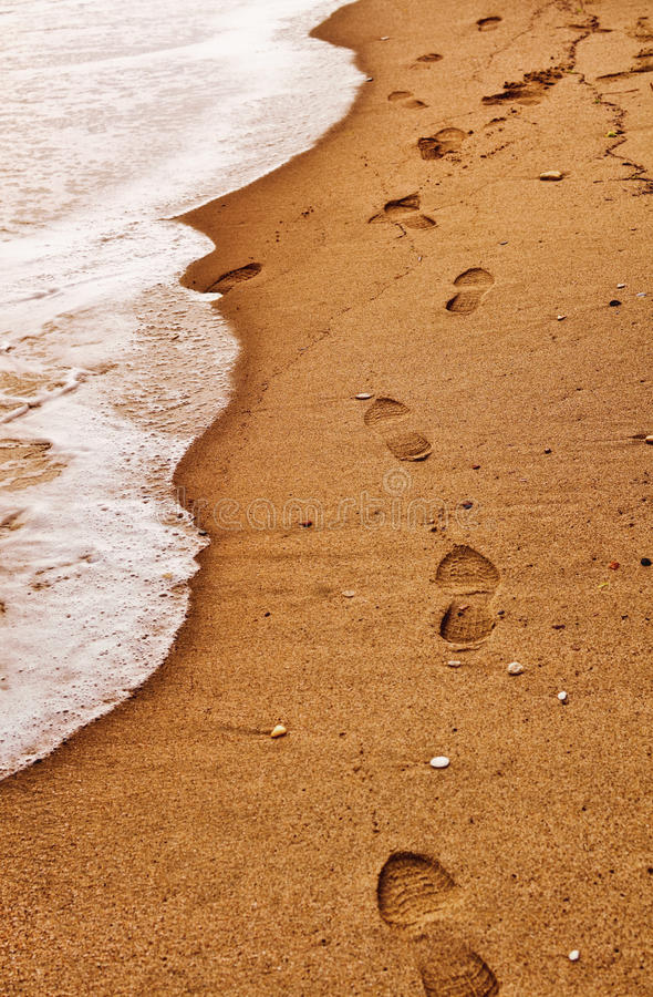 Download Beach Footsteps stock image. Image of vacation, steps - 25031743