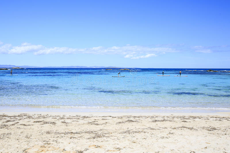 Beach in Formentera royalty free stock photography