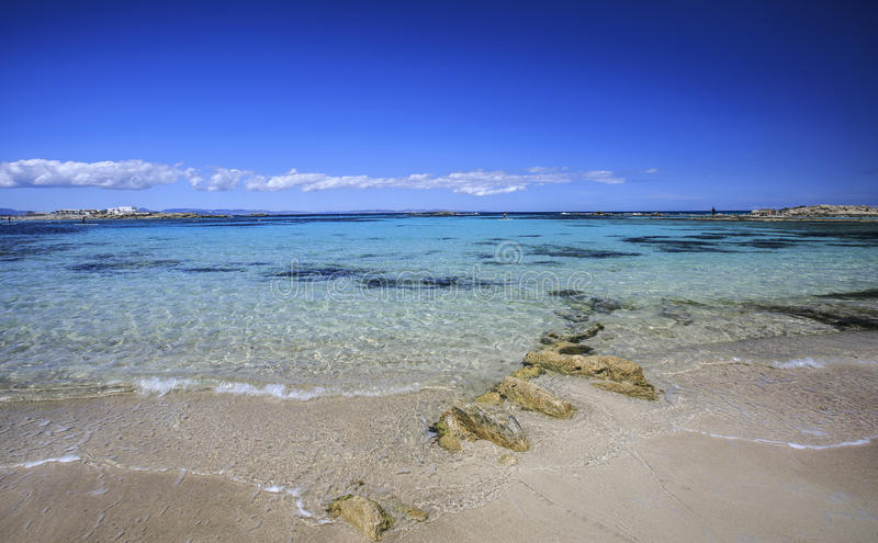 Beach in Formentera royalty free stock photos