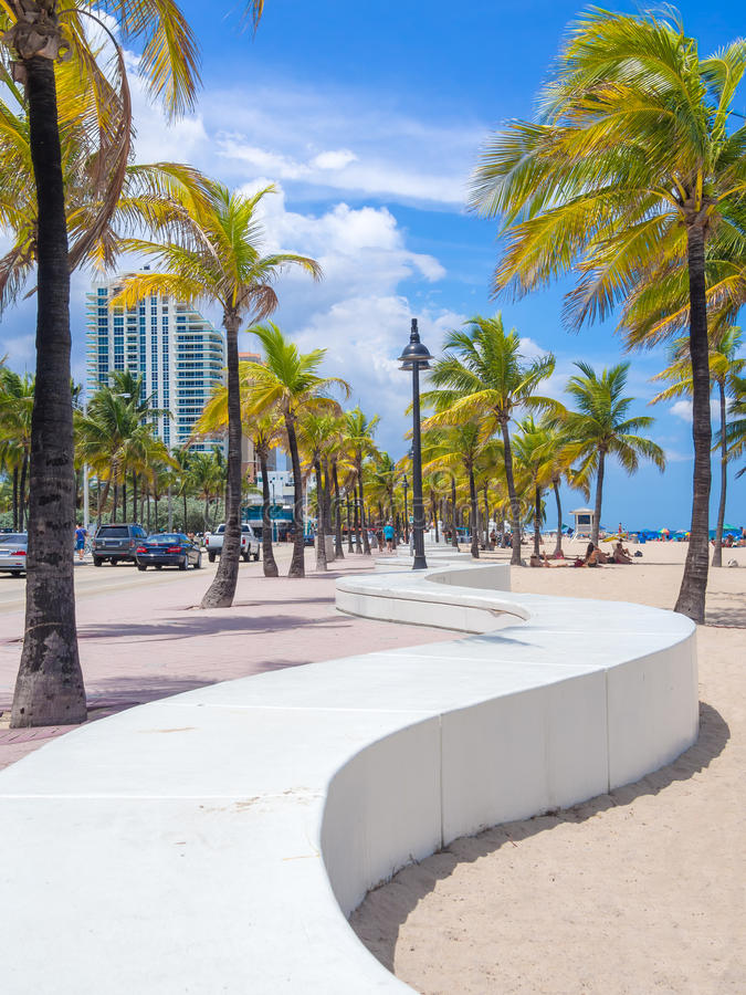The Beach At Fort Lauderdale In Florida Stock Photo