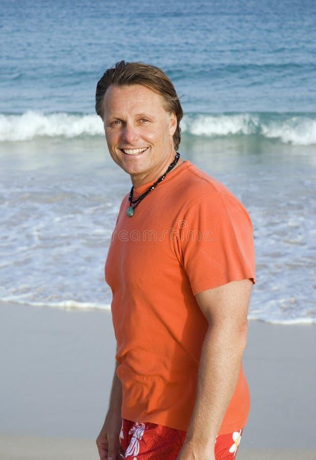 beach forties man στοκ εικόνα με δικαίωμα ελεύθερης χρήσης
