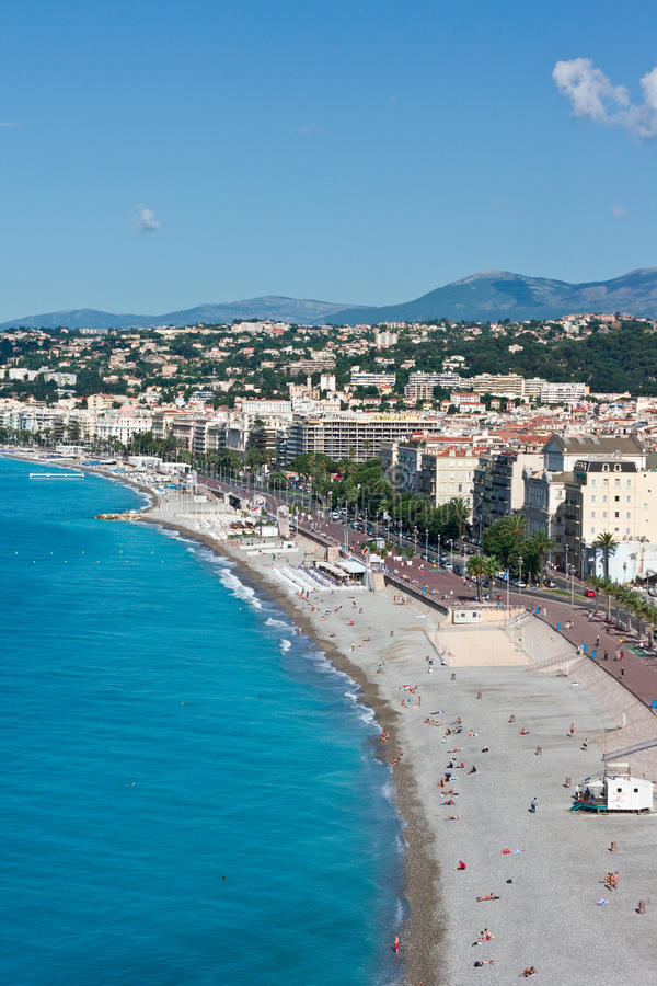 Beach In France, Nice Royalty Free Stock Photography
