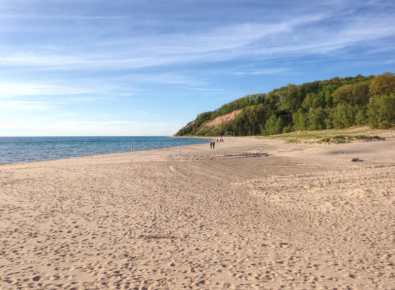 Beach at Frankfort, Michigan royalty free stock photos