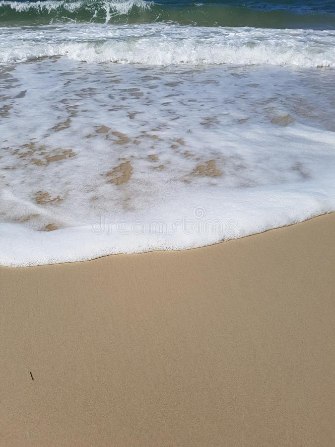 Beach Froth on bribie island royalty free stock photos
