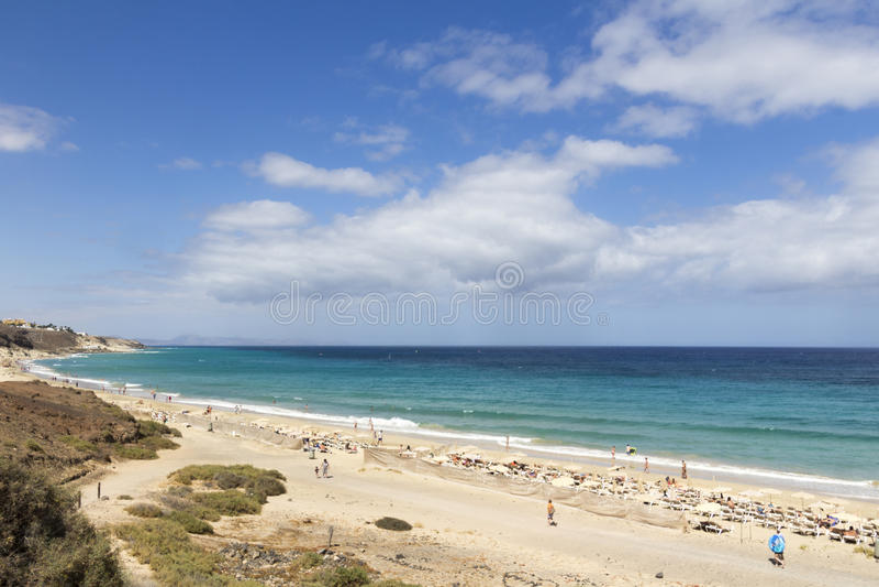 Beach in Fuerteventura stock image