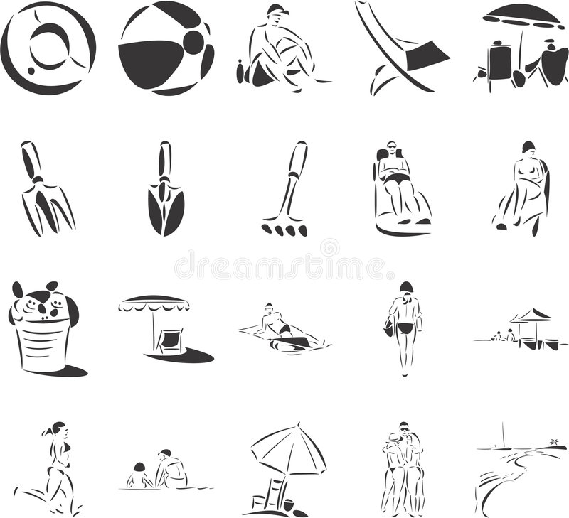Download Beach Fun stock vector. Image of holiday, boat, belt, vacation - 6912502