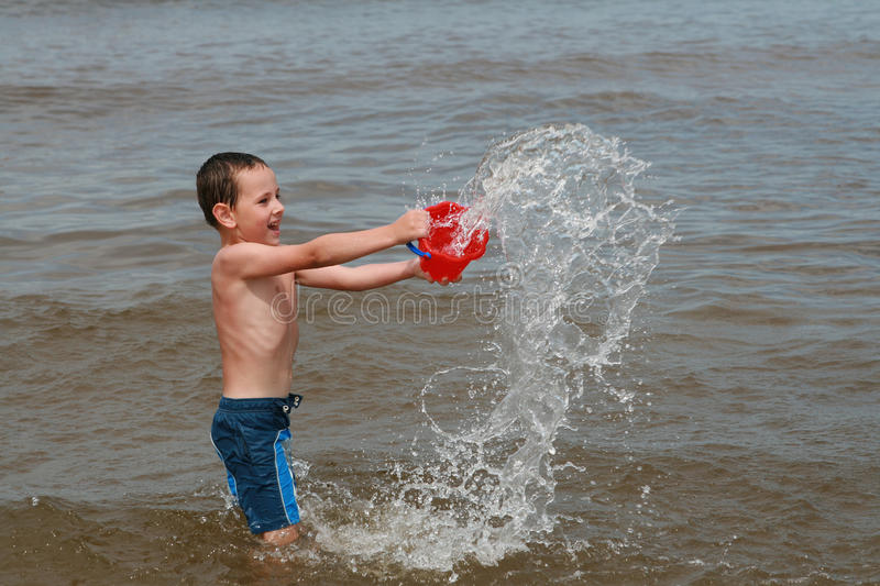 Download Beach fun - Enjoy on waves stock image. Image of game - 13711027
