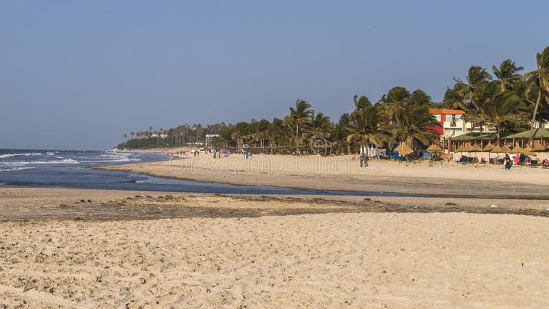 Beach in Gambia royalty free stock photos
