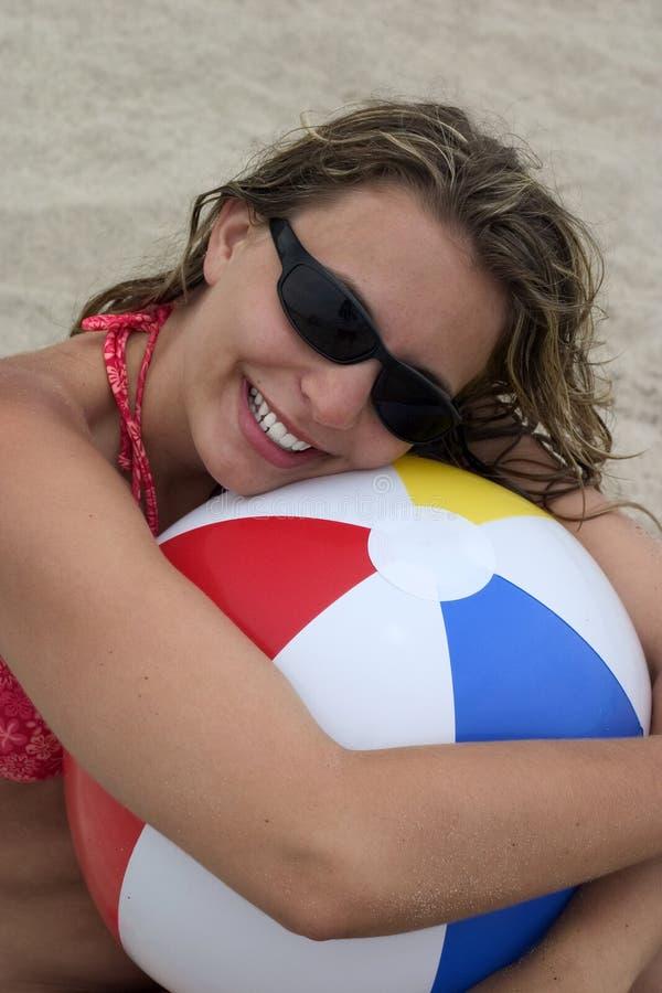 Download Beach Girl stock photo. Image of ball, balls, shades, teenagers - 162404