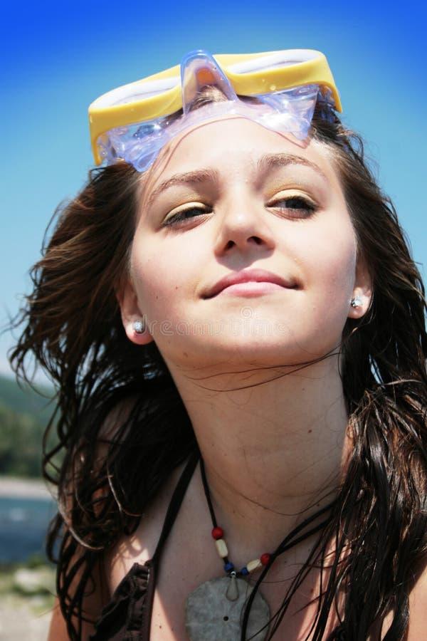 Girl On Sea Beach Royalty Free Stock Photo - Image: 10485975