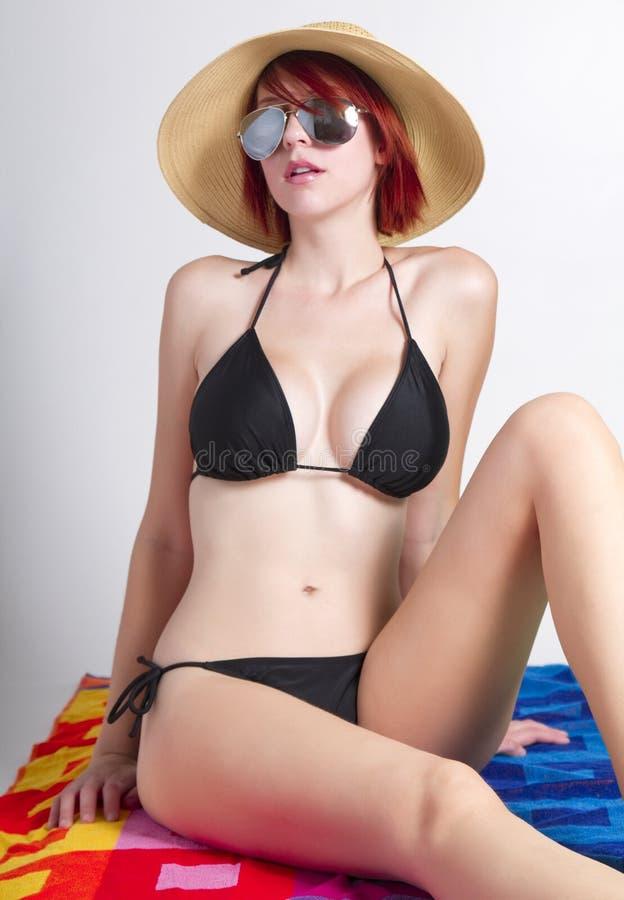 Beach Girl Wearing Sunglasses Royalty Free Stock Photo