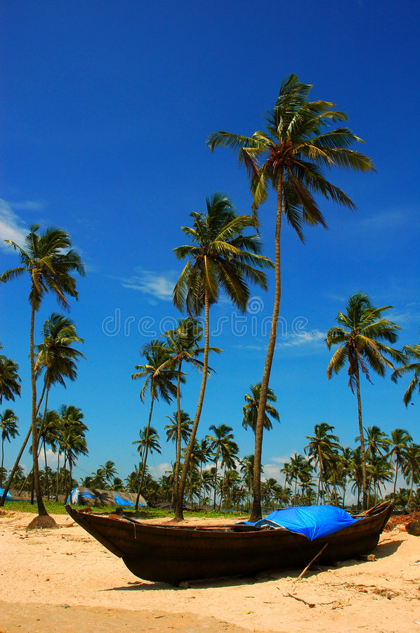 The beach of Goa-India. royalty free stock images