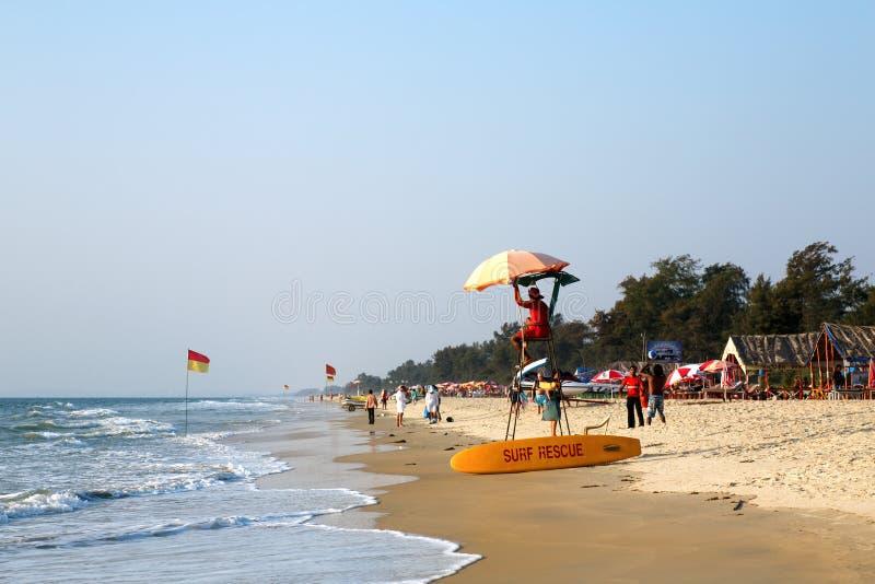 Beach, GOA, India. Beautiful sunny beach, GOA, Cavelossim Beach, India royalty free stock image