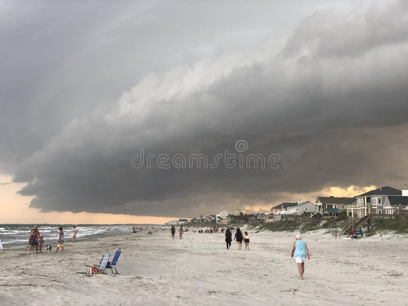 Clearing Folly Beach, SC royalty free stock image