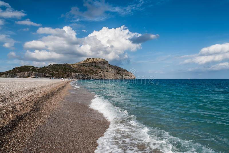 Beach in Greece stock images