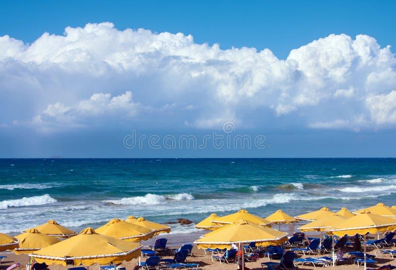 Beach in Greek, the Crete stock photography